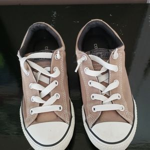 Converse Girls gray shoes size 4
